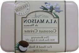 A La Maison Coconut Creme Soap, 8.8 Ounce