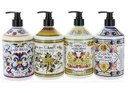 Combo Set 4, Italian Deruta Hand Soap Collection 21.5 FL OZ