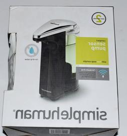 simplehuman Compact Sensor Pump for Soap or Sanitizer, Black