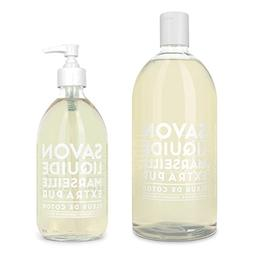 cotton liquid soap glass bottle