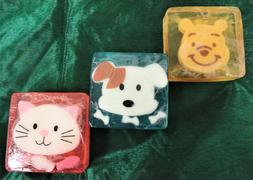 Cute Hand Soap- Animal Face- Baby Shower Party Favors- Bear,