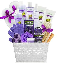 Deluxe XL Gourmet Spa Gift Basket with Essential Oils. 20-Pi