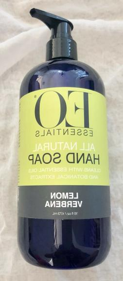 EO Essentials Hand Soap - 16 ounce - LEMON VERBENA - Paraben