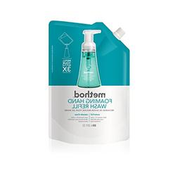 Method Foaming Hand Soap Refill Leaves hands soft + clean Wa