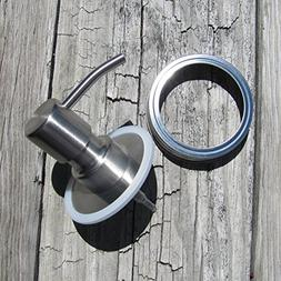 Foaming Mason Jar Soap Dispenser Lid Kit, Metal Soap Pump, R