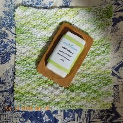 FREE SOAP DISH W/ HAND KNIT WASH/DISH CLOTH & LG. BAR OFSOAP