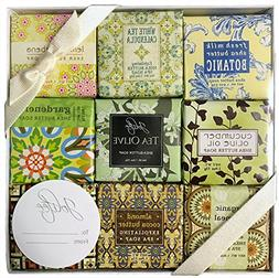 French Milled Botanical Soap Sampler Set in Nine Fabulous Sc