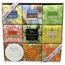 French Milled Botanical Soap Sampler Set in Nine Fabulous Sc