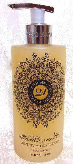 Vivian Gray GRAPEFRUIT & VETIVER Cream Hand Soap 13.5 oz, Ma
