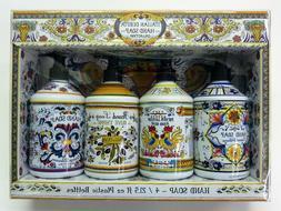 ITALIAN DERUTA HAND SOAP COLLECTION Gift Set 21.5 oz / Set o
