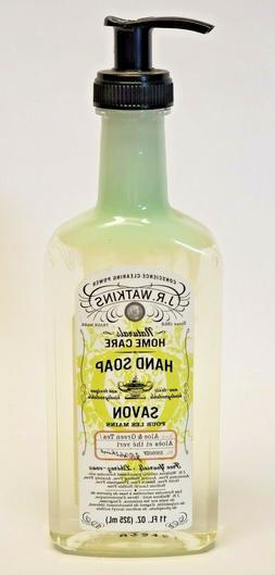 J.R Watkins Hand Soap Savon Aloe & Green Tea 11oz Liquid Pum