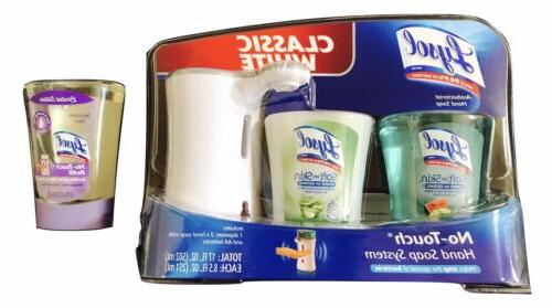 1X Lysol Classic White No Touch Hand Soap System Kit With 3