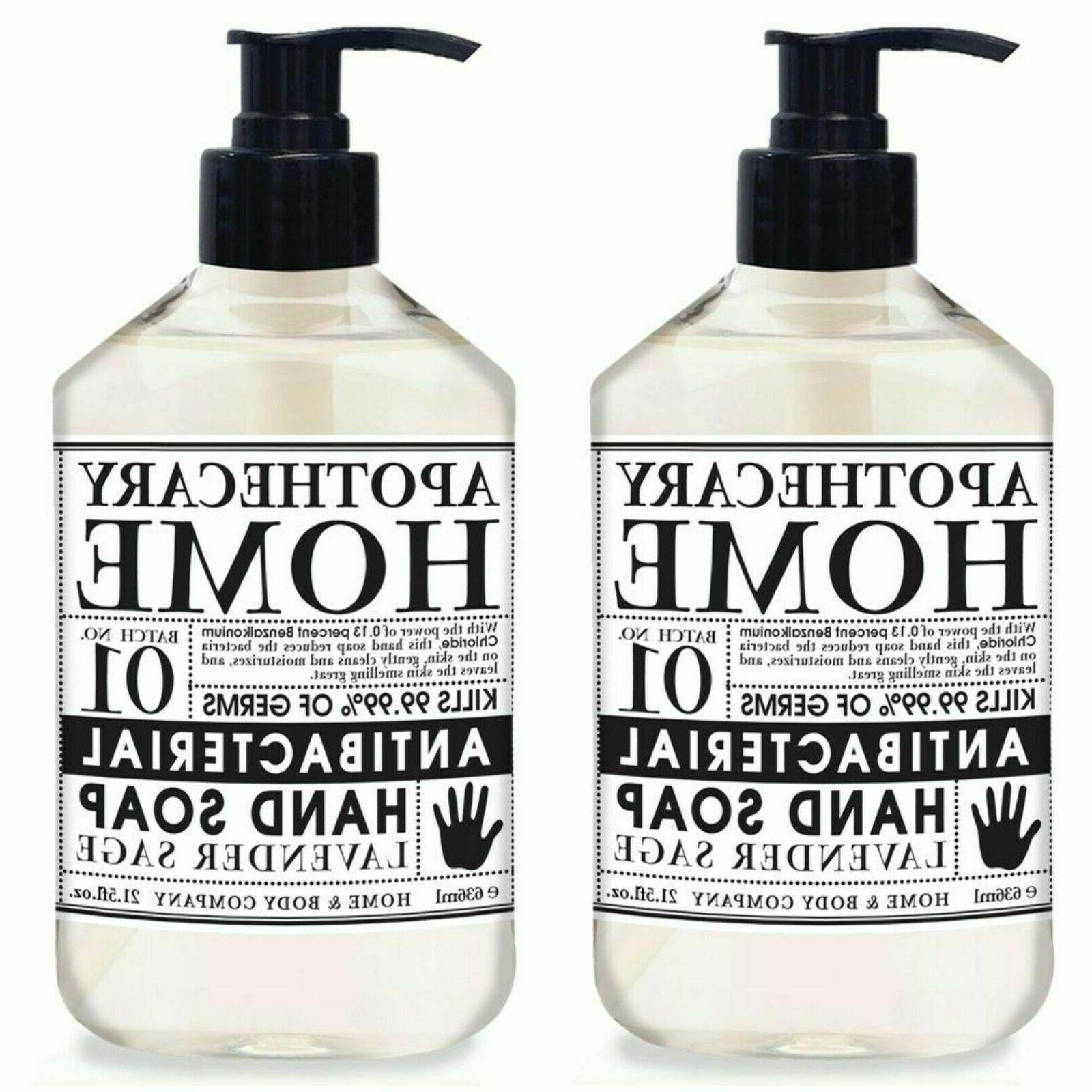 NEW  21.5oz Bottles Apothecary Home Co Antibac Gel Hand Soap