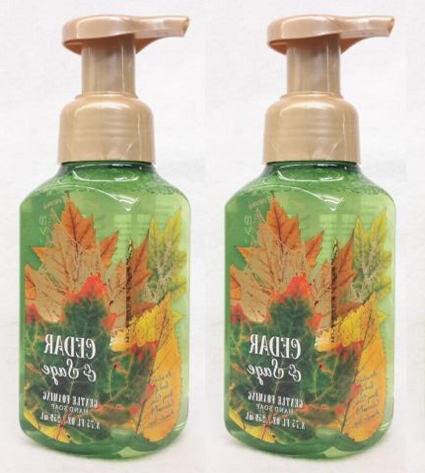 2 Bath & Body Works CEDAR & SAGE Gentle Foaming Hand Soap