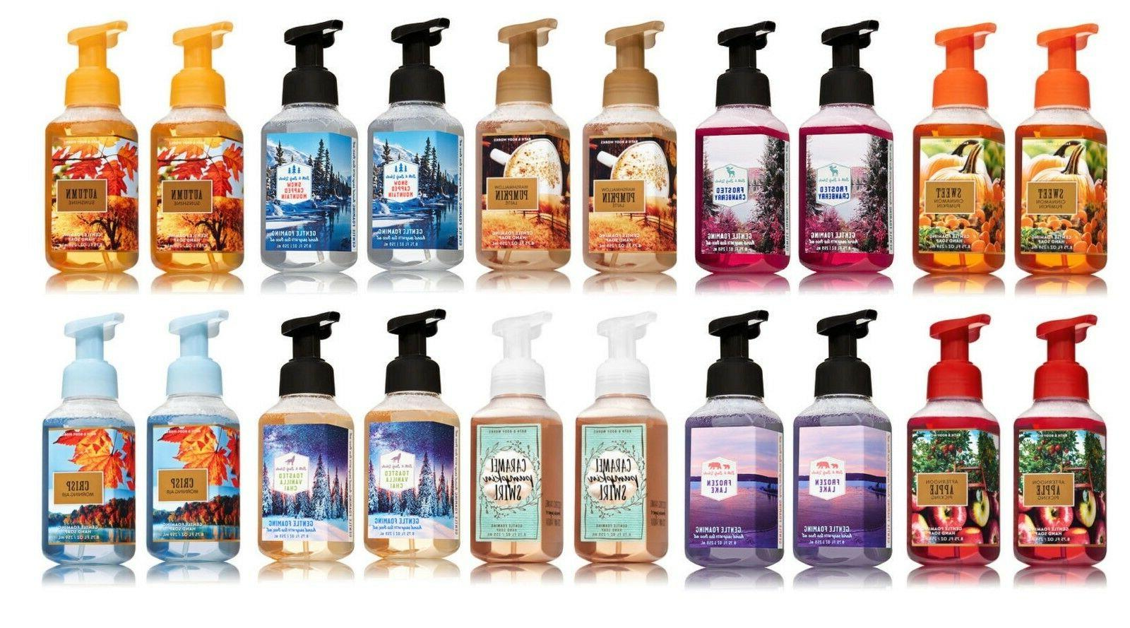 2 bath and body works gentle foaming