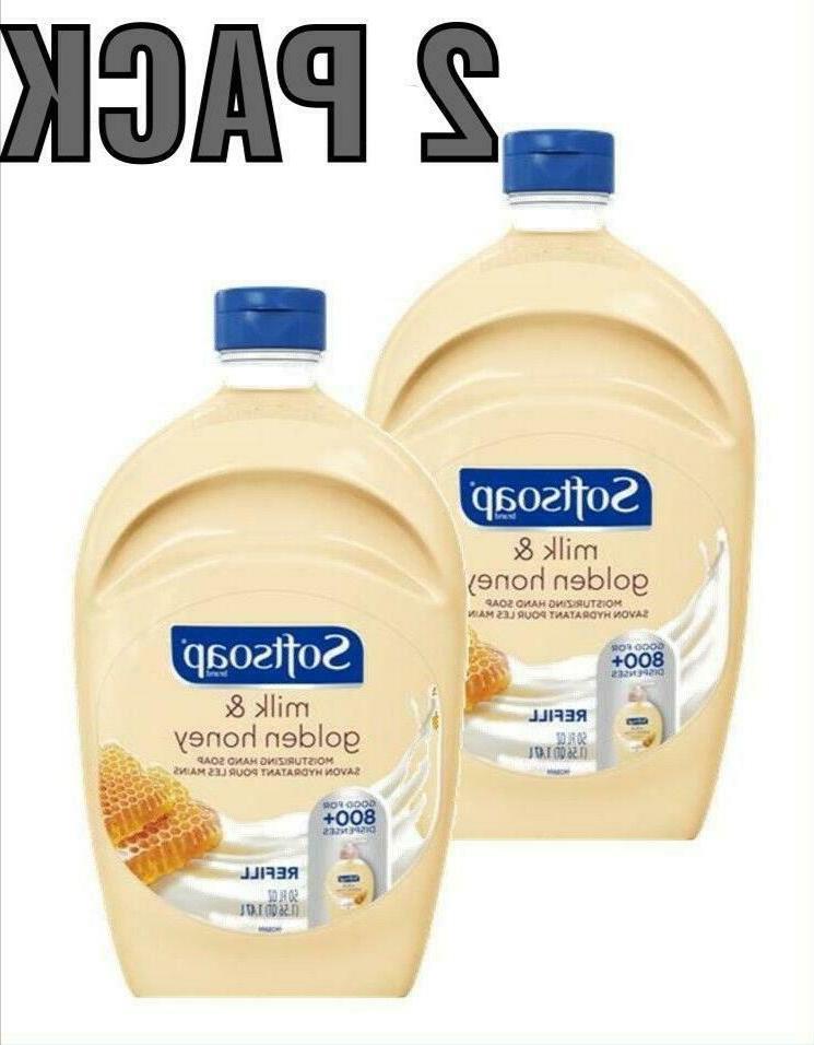 2 pack liquid hand soap refill milk