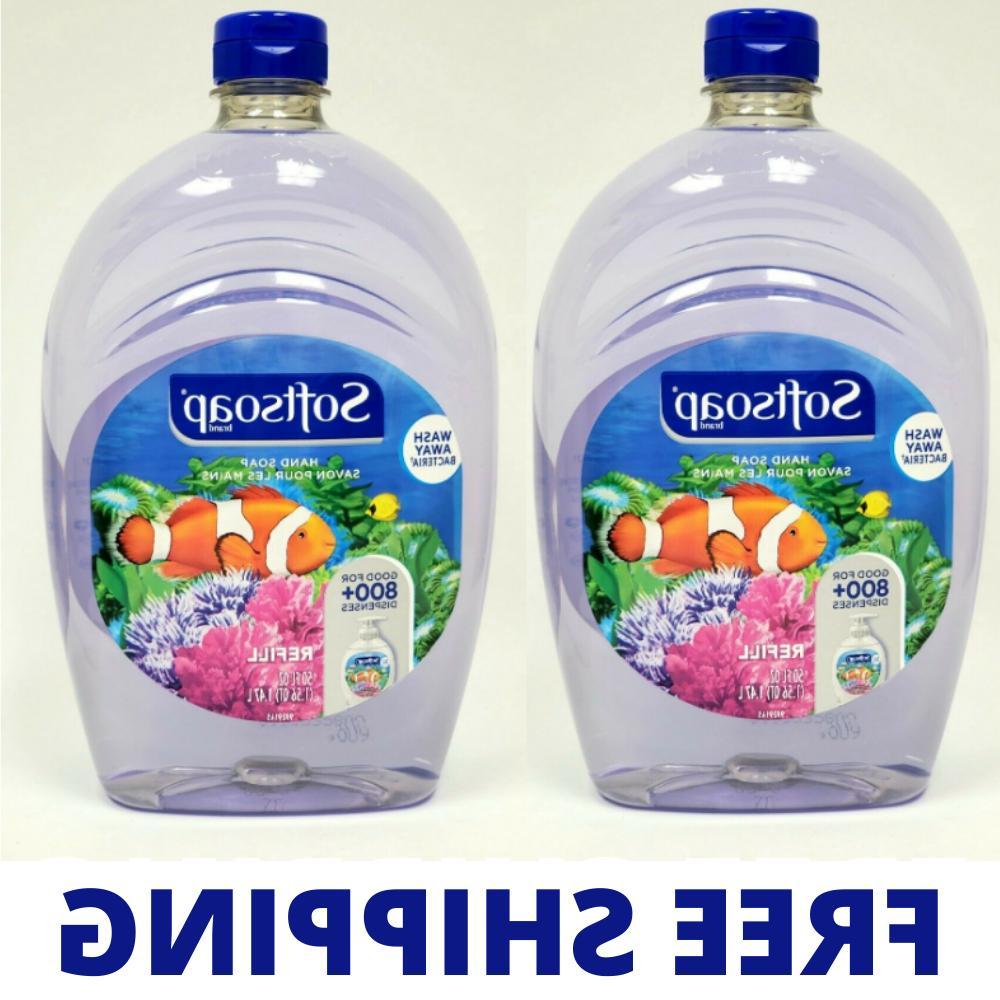 2 PK Softsoap Liquid Hand Soap 50oz Refill - Wash Away Bacte