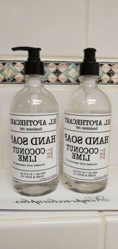 2 X COCONUT LIME Hand Soap 21.5 Fl  Oz H.L APOTHECARY Home &