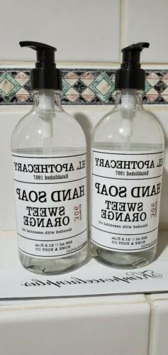 2 X SWEET ORANGE Hand Soap 21.5 Fl  Oz H.L APOTHECARY Home &