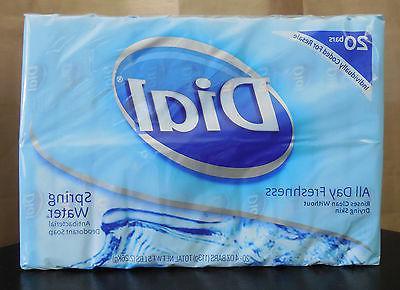 20 Bars DIAL Spring Water Antibacterial Deodorant Soap 4oz H
