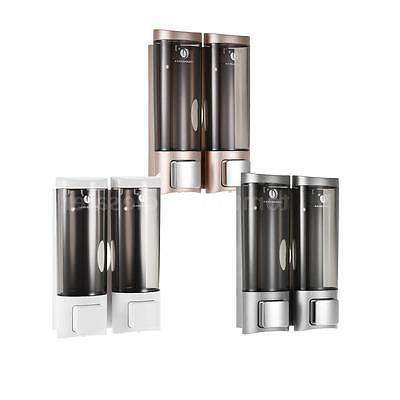 2x Hand Soap Dispenser Wall Mount Liquid Shampoo Shower Gel