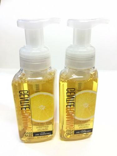 3 BATH & BODY WORKS KITCHEN LEMON GENTLE FOAMING HAND SOAP W