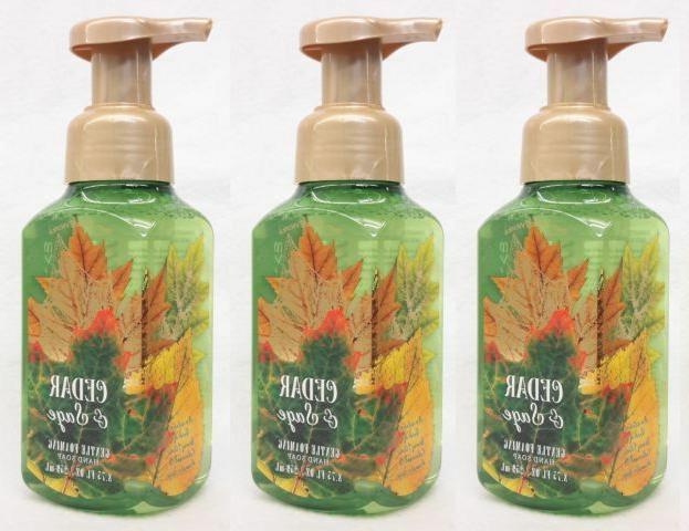 3 Bath & Body Works CEDAR & SAGE Gentle Foaming Hand Soap