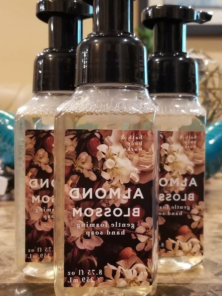 3 bath and body works almond blossom