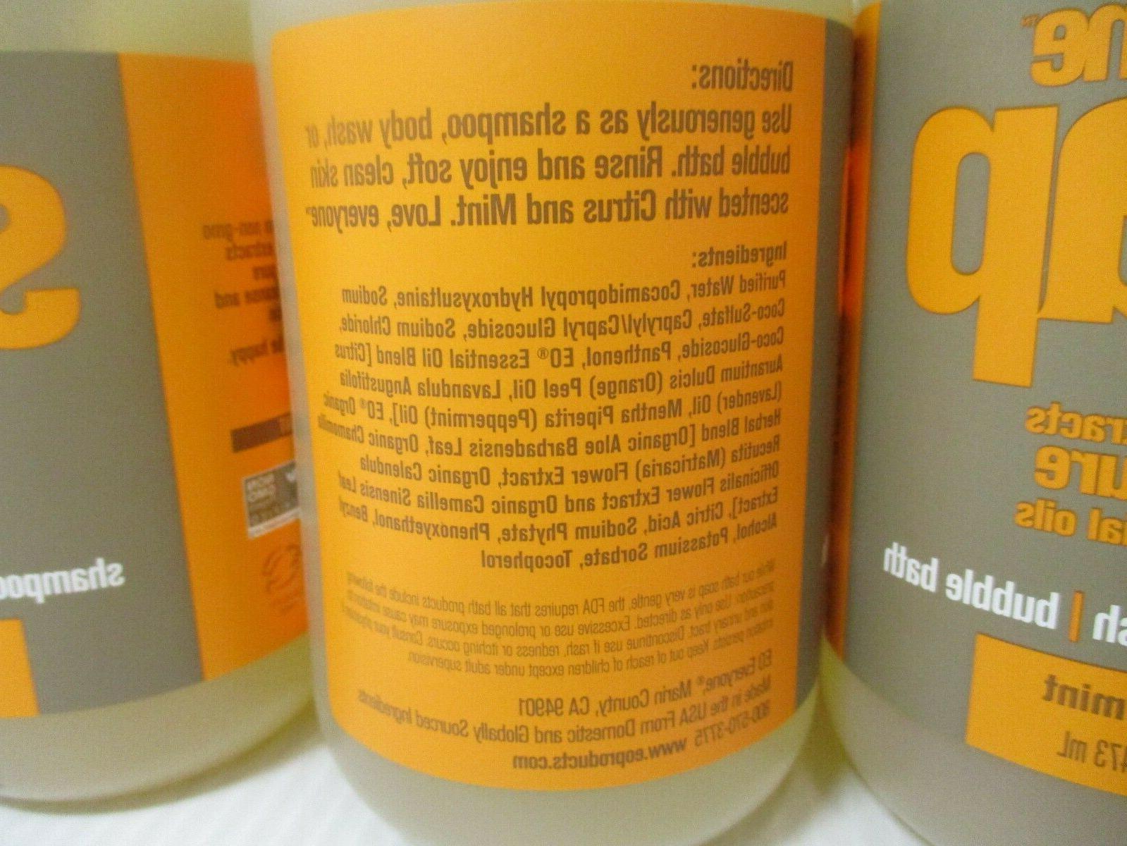 4 EVERYONE SOAP SHAMPOO-BODY WASH-BUBBLE BATH + OZ EA