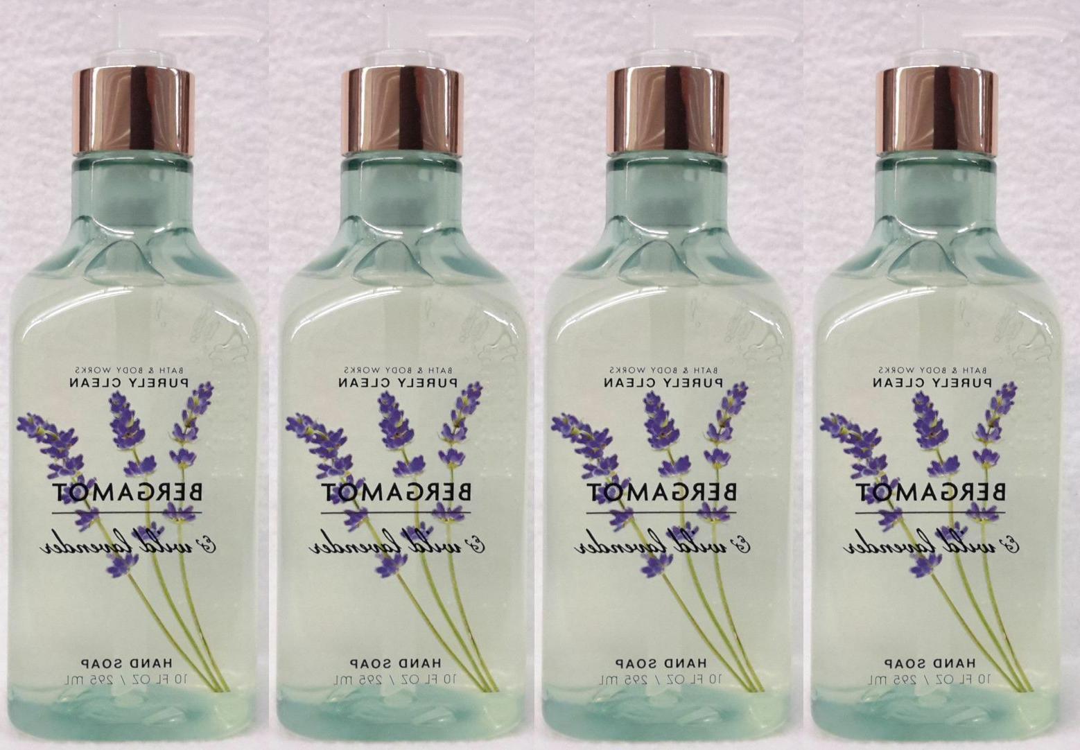 4 Bath & Body Works BERGAMOT & WILD LAVENDER Purely Clean Ge
