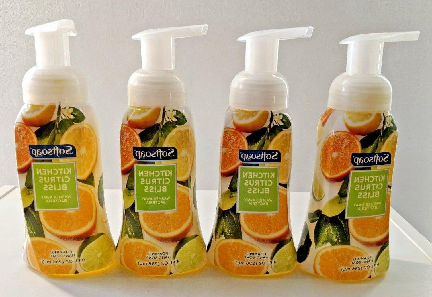 4 PACK Softsoap Kitchen Citrus Bliss Foaming Hand Soap 8 oz