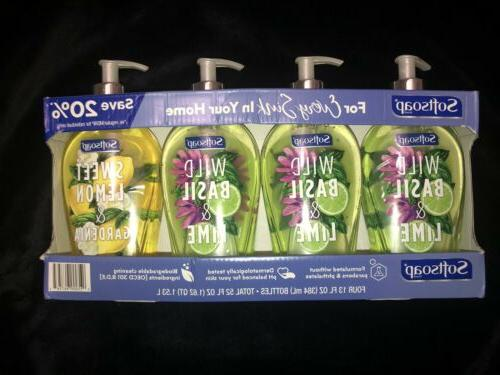 4 pack liquid hand soap 13 fl