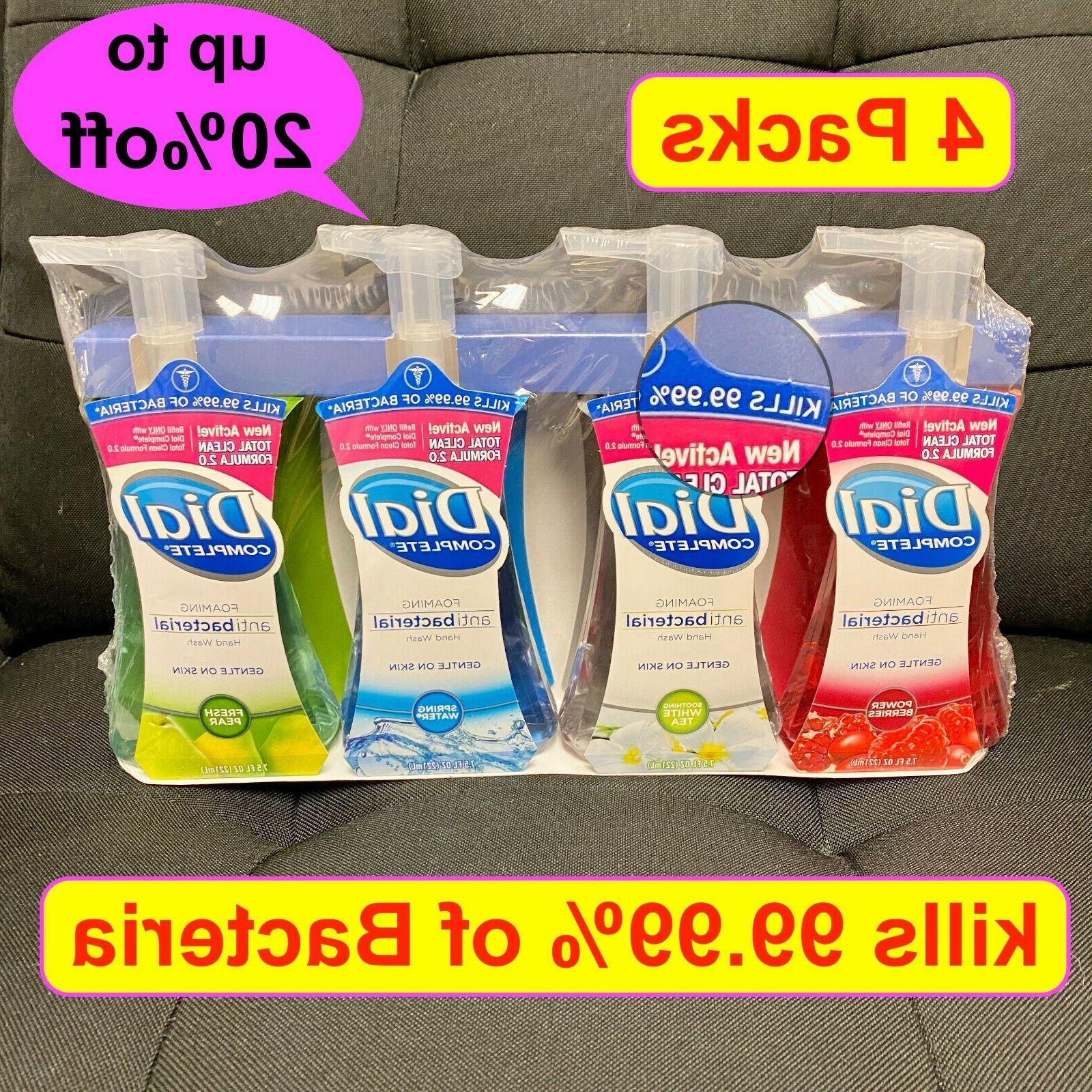 4 packs complete foaming hand soap wash