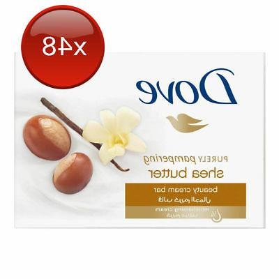 48 X DOVE SHEA BUTTER SOAP BEAUTY CREAM BAR 100G PACK BULK H