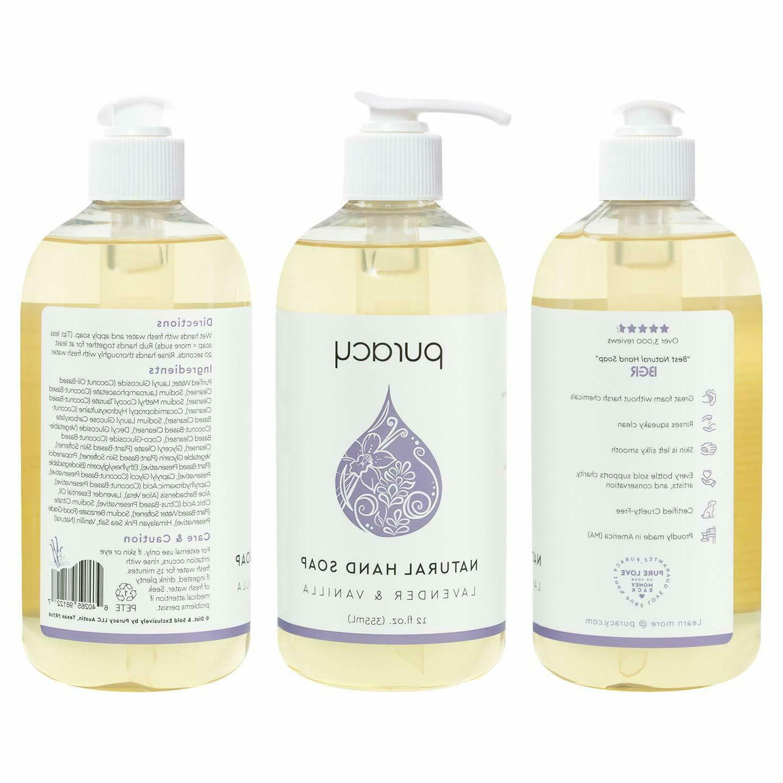 4Packs Hand Soap, Lavender Vanilla, Moisturizing Gel,12o