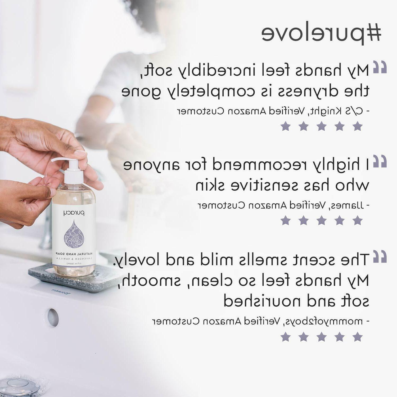 4Packs Puracy Natural Hand Soap, Vanilla, Gel,12o