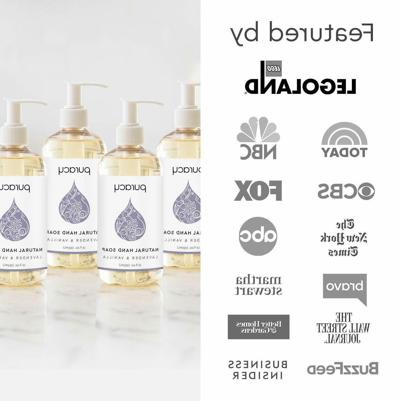 4Packs Hand Soap, Lavender Vanilla, Gel,12o