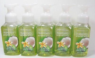 5 x COCONUT LIME VERBENA Foaming Hand Soap washes Bath & Bod