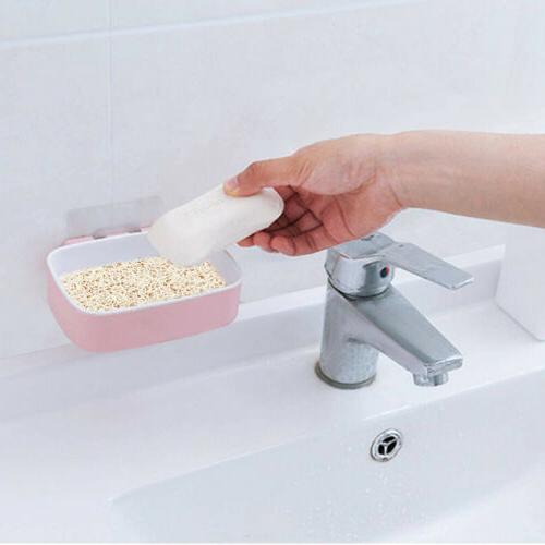 5Pcs Soap Dish Holder Bathroom Kitchen Home