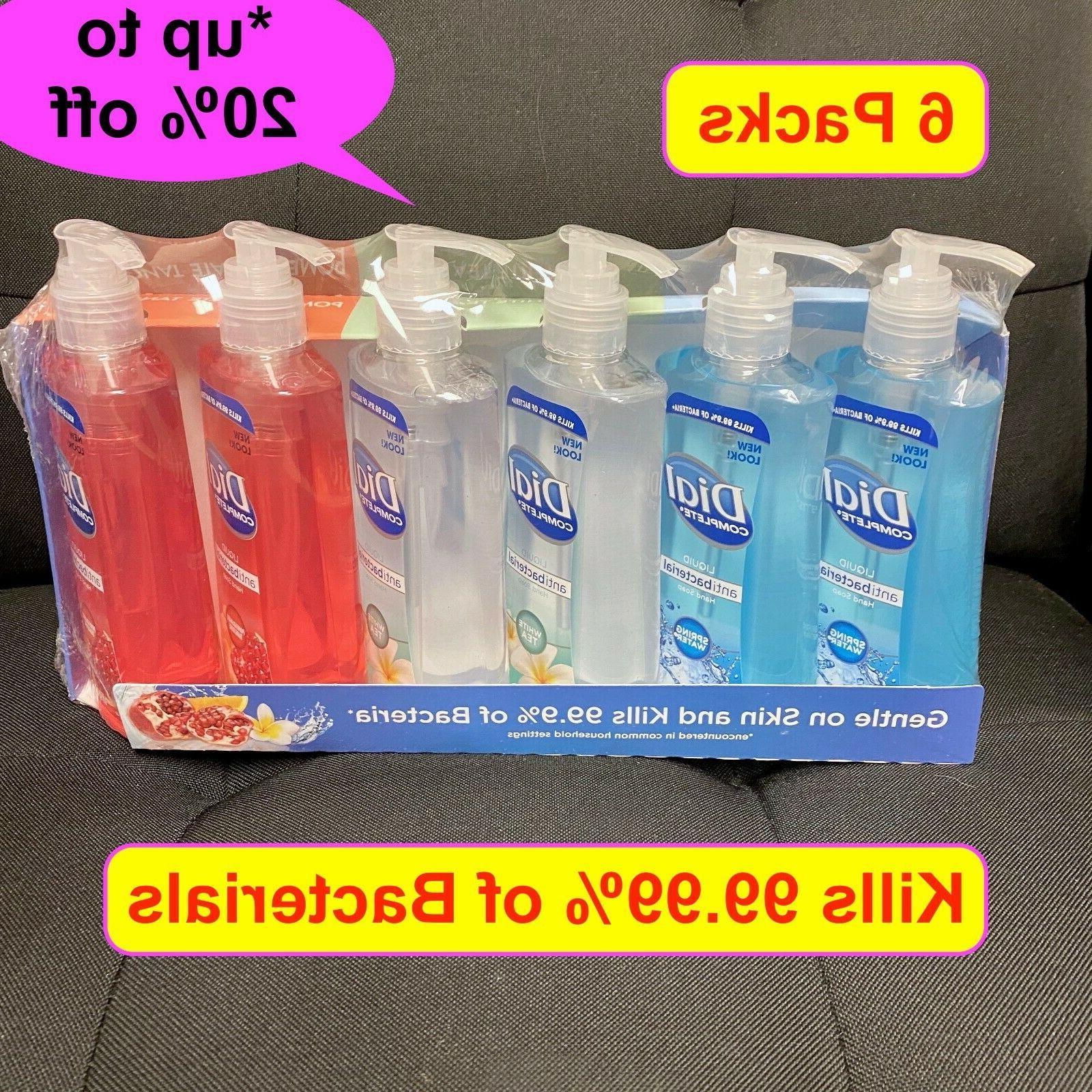 6 packs complete liquid hand soap wash