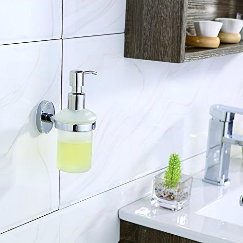 CRW Dispenser Bathroom Liquid Pump 8oz Lotion Refill Steel for Bathroom