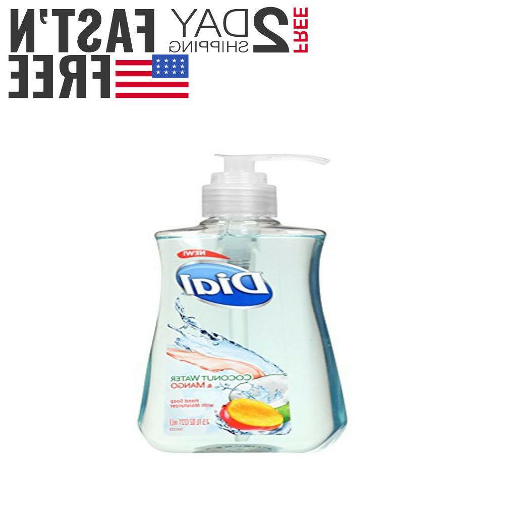 Dial Liquid Hand Soap, Coconut Water Mango, 7.5 Fluid Ounces