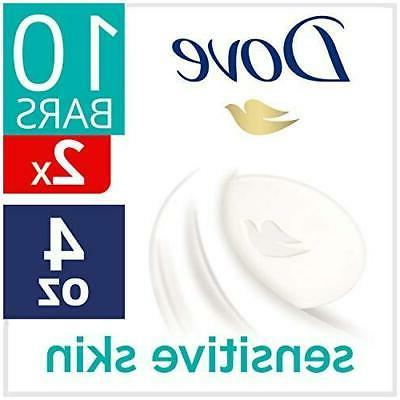 16 Bars | Dove Unscented Hypo-Allergenic Beauty Bar Soap | S