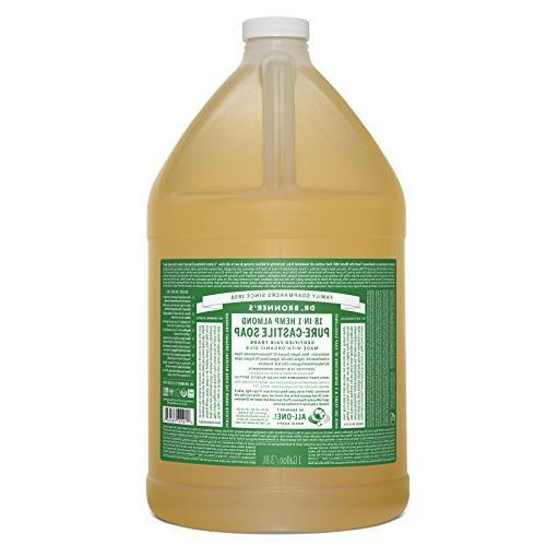 Dr. Bronner's Pure-Castile Liquid Soap – Almond, 1 Gallo