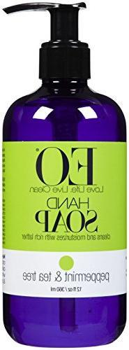 EO Products Liquid Hand Soap - Peppermint & Tea Tree - 12 oz