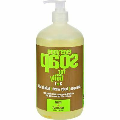 EO Products Natural Everyone Hand Soap Liquid, Mint and Coco