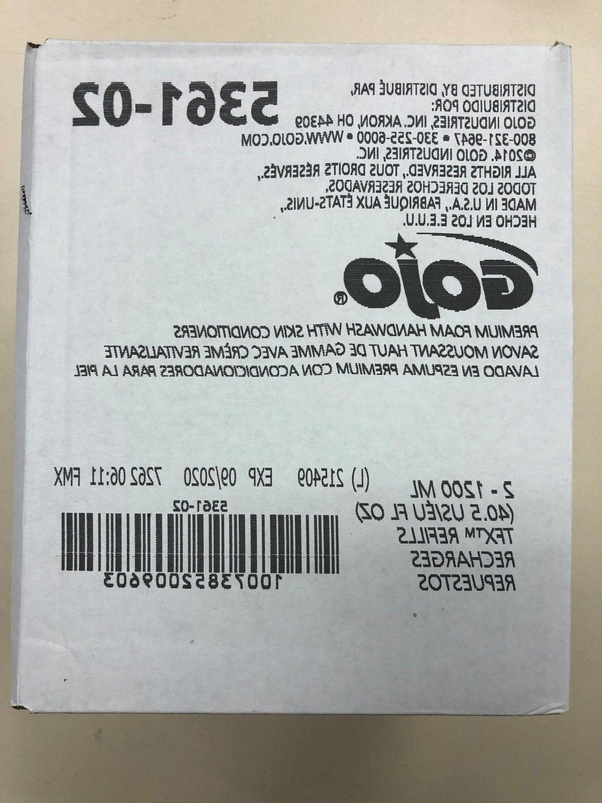 GOJO 5361-02 Premium Foam Hand Soap w/Moisturizer, case of 2