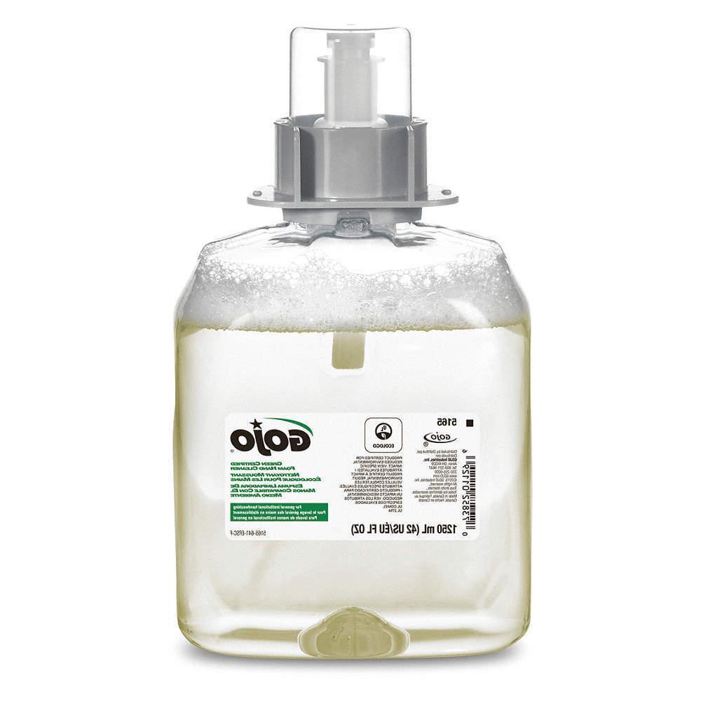 GOJO Foam Hand Soap,1250mL,Unscented,PK3, 5165-03, CLEAR