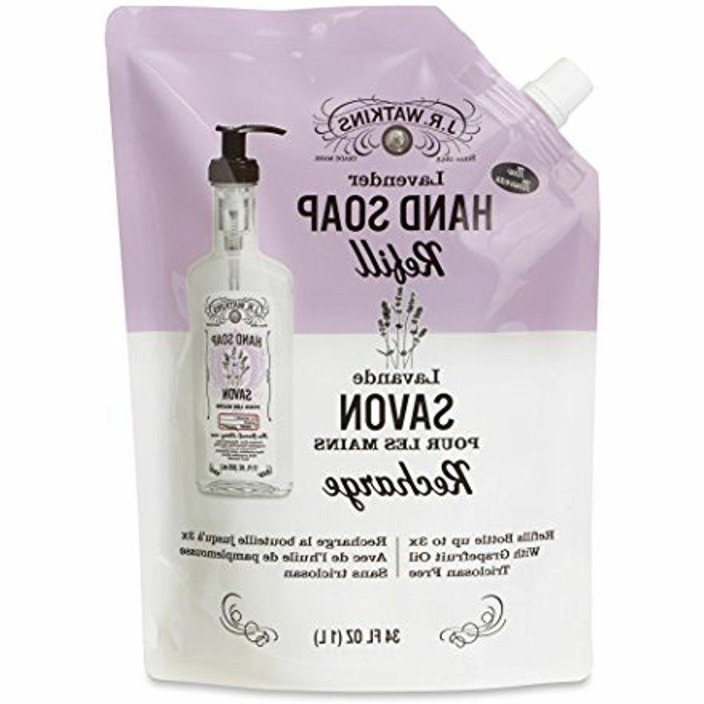 J.R. Watkins Liquid Hand Soap Refill Pouch, Lavender, 6 Coun