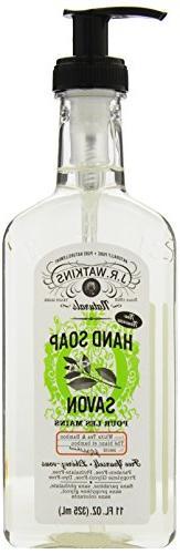 J.R. Watkins Liquid Hand Soap, White Tea & Bamboo, 11 ounce